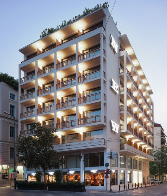 New hotel athens greece design hotels for Hotel exterior design